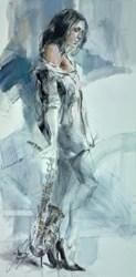 Rehearsing Under the Moon by Anna Razumovskaya -  sized 24x48 inches. Available from Whitewall Galleries